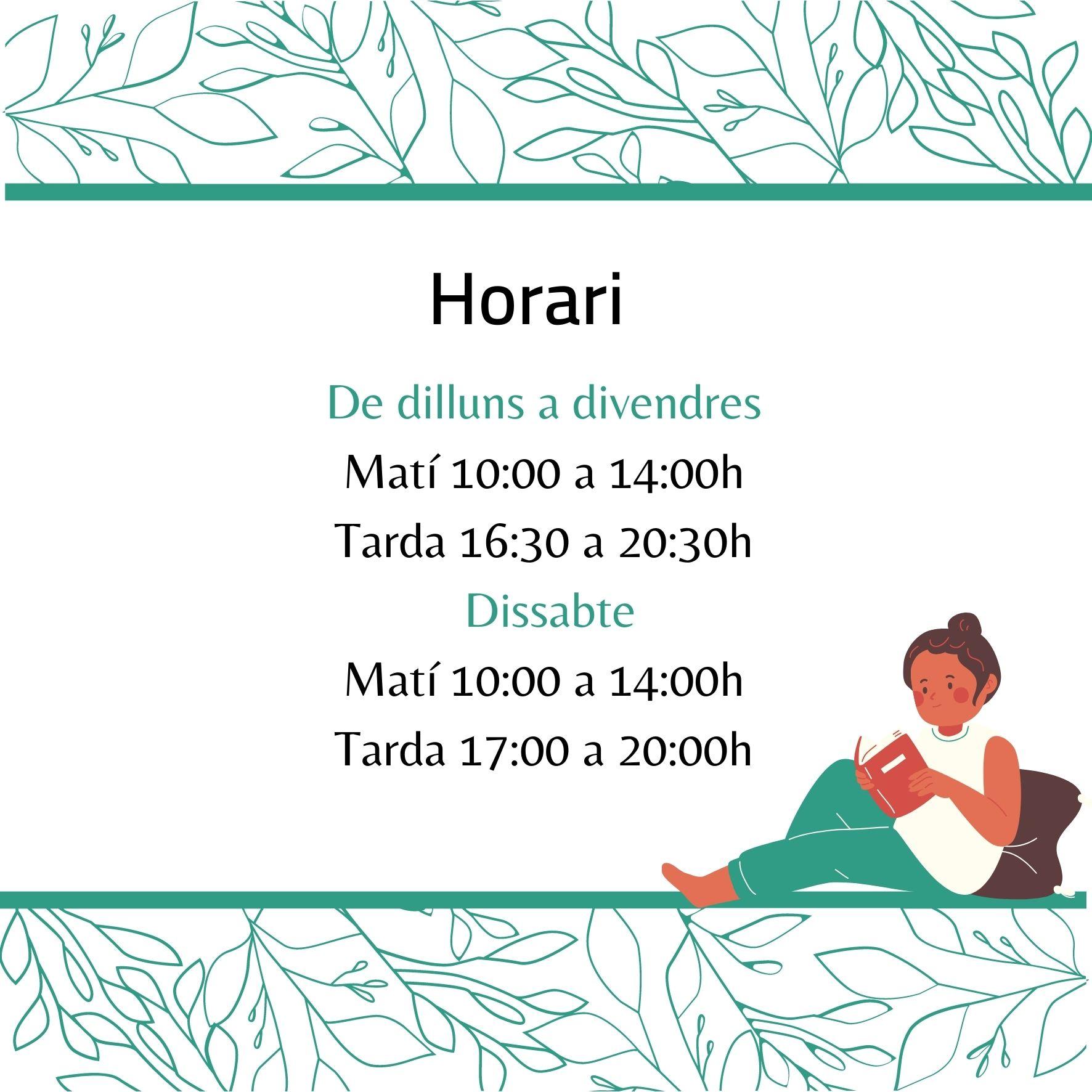 Horari_llibreria_espai_llavors
